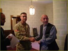 Maj. Amerine & Hamid Karzai