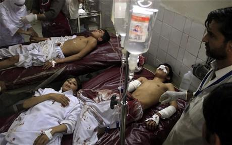 Little-Angels of Pakistan-Attacked-by-Devils-in-Peshawar